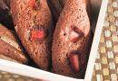 Chocolate Strawberry Madeleines